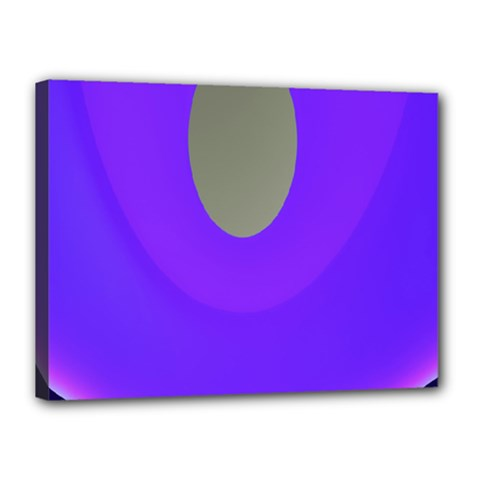 Ceiling Color Magenta Blue Lights Gray Green Purple Oculus Main Moon Light Night Wave Canvas 16  X 12