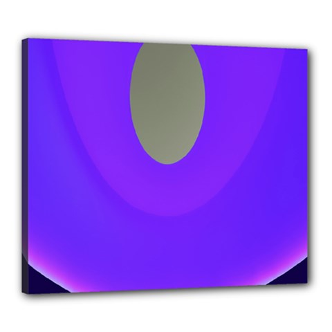 Ceiling Color Magenta Blue Lights Gray Green Purple Oculus Main Moon Light Night Wave Canvas 24  X 20