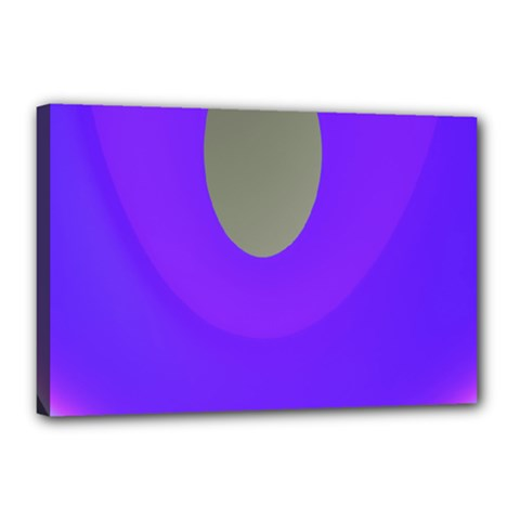 Ceiling Color Magenta Blue Lights Gray Green Purple Oculus Main Moon Light Night Wave Canvas 18  X 12