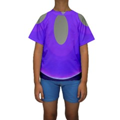 Ceiling Color Magenta Blue Lights Gray Green Purple Oculus Main Moon Light Night Wave Kids  Short Sleeve Swimwear