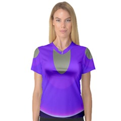 Ceiling Color Magenta Blue Lights Gray Green Purple Oculus Main Moon Light Night Wave Women s V Neck Sport Mesh Tee