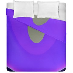 Ceiling Color Magenta Blue Lights Gray Green Purple Oculus Main Moon Light Night Wave Duvet Cover Double Side (california King Size)