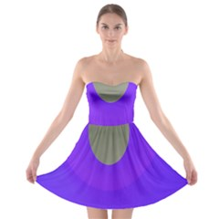 Ceiling Color Magenta Blue Lights Gray Green Purple Oculus Main Moon Light Night Wave Strapless Bra Top Dress