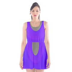 Ceiling Color Magenta Blue Lights Gray Green Purple Oculus Main Moon Light Night Wave Scoop Neck Skater Dress