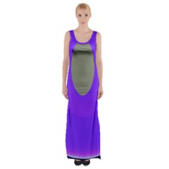 Ceiling Color Magenta Blue Lights Gray Green Purple Oculus Main Moon Light Night Wave Maxi Thigh Split Dress