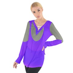Ceiling Color Magenta Blue Lights Gray Green Purple Oculus Main Moon Light Night Wave Women s Tie Up Tee