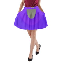 Ceiling Color Magenta Blue Lights Gray Green Purple Oculus Main Moon Light Night Wave A Line Pocket Skirt