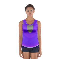 Ceiling Color Magenta Blue Lights Gray Green Purple Oculus Main Moon Light Night Wave Women s Sport Tank Top