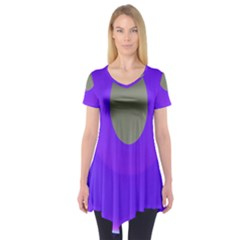 Ceiling Color Magenta Blue Lights Gray Green Purple Oculus Main Moon Light Night Wave Short Sleeve Tunic