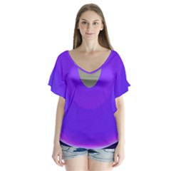 Ceiling Color Magenta Blue Lights Gray Green Purple Oculus Main Moon Light Night Wave Flutter Sleeve Top by Alisyart