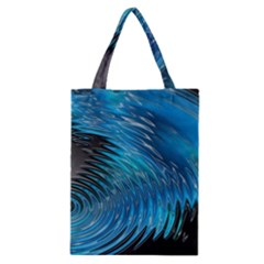 Waves Wave Water Blue Hole Black Classic Tote Bag by Alisyart