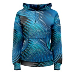 Waves Wave Water Blue Hole Black Women s Pullover Hoodie