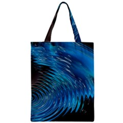 Waves Wave Water Blue Hole Black Zipper Classic Tote Bag by Alisyart