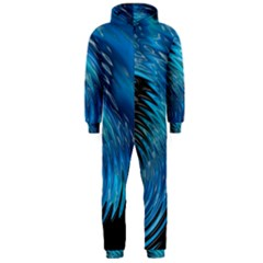 Waves Wave Water Blue Hole Black Hooded Jumpsuit (men)  by Alisyart