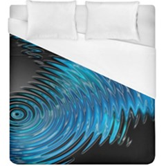 Waves Wave Water Blue Hole Black Duvet Cover (king Size) by Alisyart