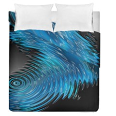 Waves Wave Water Blue Hole Black Duvet Cover Double Side (queen Size) by Alisyart