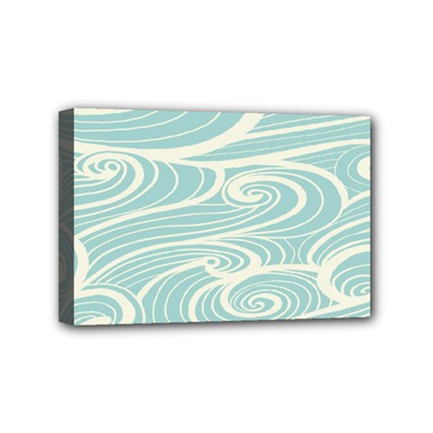 Blue Waves Mini Canvas 6  X 4