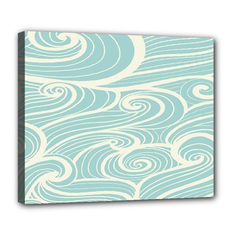 Blue Waves Deluxe Canvas 24  X 20   by Alisyart