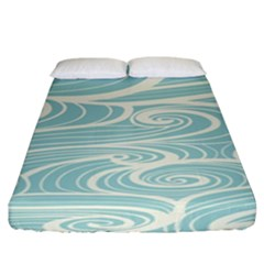 Blue Waves Fitted Sheet (king Size)