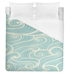 Blue Waves Duvet Cover (queen Size) by Alisyart
