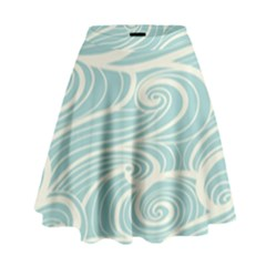 Blue Waves High Waist Skirt by Alisyart
