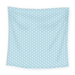 Circle Blue White Square Tapestry (large)