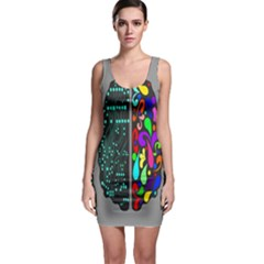 Emotional Rational Brain Sleeveless Bodycon Dress