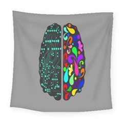 Emotional Rational Brain Square Tapestry (large)