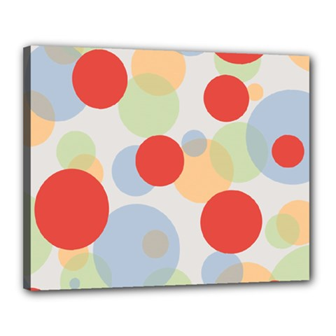Contrast Analogous Colour Circle Red Green Orange Canvas 20  X 16  by Alisyart