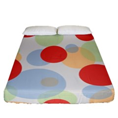 Contrast Analogous Colour Circle Red Green Orange Fitted Sheet (queen Size) by Alisyart