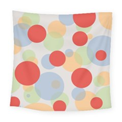 Contrast Analogous Colour Circle Red Green Orange Square Tapestry (large) by Alisyart