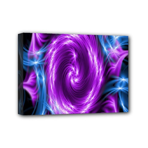 Colors Light Blue Purple Hole Space Galaxy Mini Canvas 7  X 5  by Alisyart