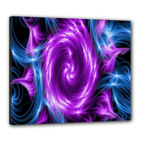 Colors Light Blue Purple Hole Space Galaxy Canvas 24  X 20  by Alisyart