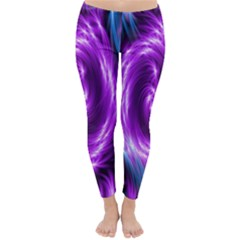 Colors Light Blue Purple Hole Space Galaxy Classic Winter Leggings