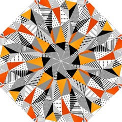 Contrast Hero Triangle Plaid Circle Wave Chevron Orange White Black Line Hook Handle Umbrellas (medium) by Alisyart