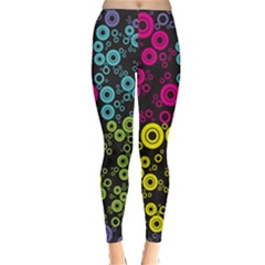 Circle Ring Color Purple Pink Yellow Blue Classic Winter Leggings