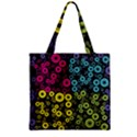 Circle Ring Color Purple Pink Yellow Blue Zipper Grocery Tote Bag View2