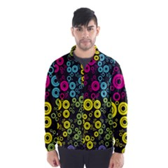 Circle Ring Color Purple Pink Yellow Blue Wind Breaker (men) by Alisyart
