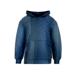 Fabric Blue Batik Kids  Pullover Hoodie by Alisyart