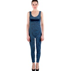 Fabric Blue Batik Onepiece Catsuit by Alisyart