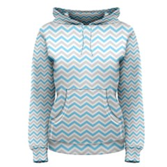 Free Plushie Wave Chevron Blue Grey Gray Women s Pullover Hoodie