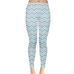 Free Plushie Wave Chevron Blue Grey Gray Classic Winter Leggings