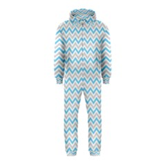 Free Plushie Wave Chevron Blue Grey Gray Hooded Jumpsuit (kids) by Alisyart