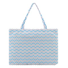Free Plushie Wave Chevron Blue Grey Gray Medium Tote Bag by Alisyart