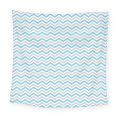 Free Plushie Wave Chevron Blue Grey Gray Square Tapestry (large) by Alisyart