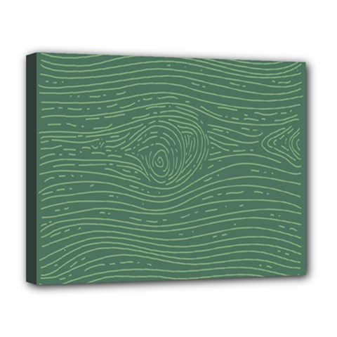 Illustration Green Grains Line Canvas 14  X 11  by Alisyart