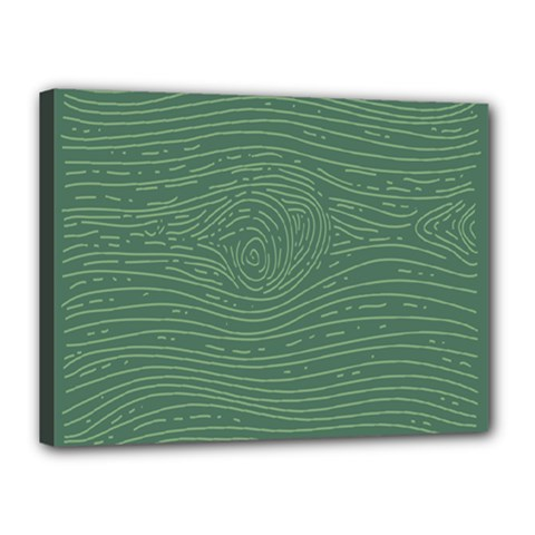Illustration Green Grains Line Canvas 16  X 12  by Alisyart