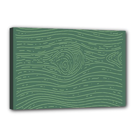 Illustration Green Grains Line Canvas 18  X 12  by Alisyart