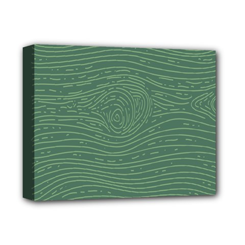 Illustration Green Grains Line Deluxe Canvas 14  X 11  by Alisyart