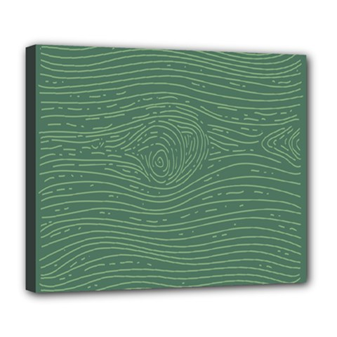 Illustration Green Grains Line Deluxe Canvas 24  X 20   by Alisyart